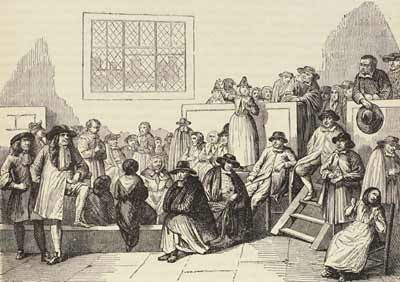 A 17th century Quaker meeting - headstuff.org