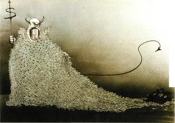 Greed corporation money Ralph Steadman | HeadStuff.org