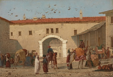 """Caravanserai at Mylasa in Asia Minor"" by Richard Dadd - headstuff.org"