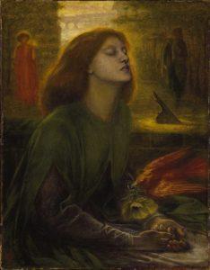 """Beata Beatrix"", by Dante Gabriel Rosetti 0 headstuff.org"