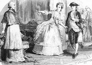 Marie Antoinette and Louis XVI confronting Cardinal de Rohan = headstuff.org