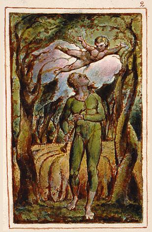 Frontispiece to Songs of Innocence by William Blake - headstuff.org