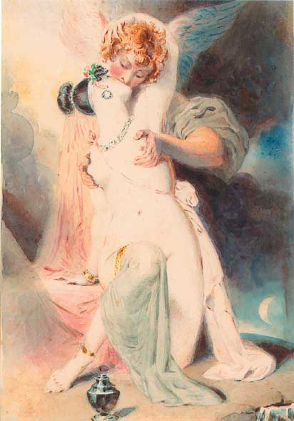 The Reunion of Eros and Psyche by Thomas Griffiths-Wainewright - headstuff.org