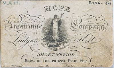 A business card for the Hope Insurance company - headstuff.org