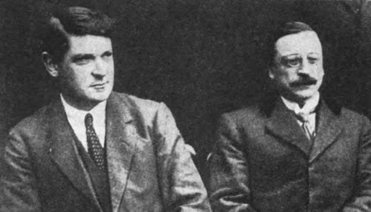 First Dail Michael Collins and Arthur Griffith | HeadStuff.org