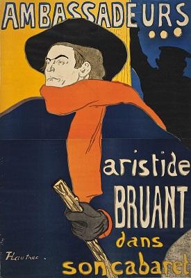 Aristide Bruant by Henri de Toulouse-Lautrec - headstuff.org