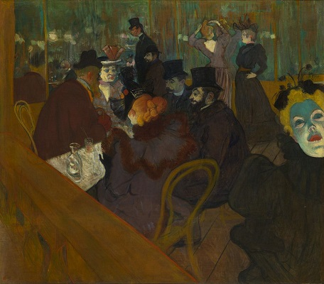 At the Moulin Rouge by Henri de Toulouse-Lautrec - headstuff.org