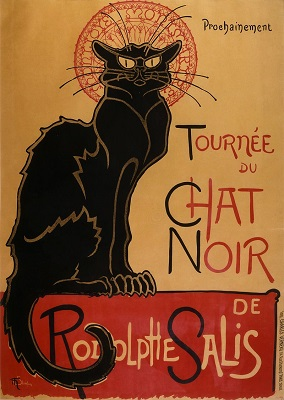 "Poster for ""Le Chat Noir"" by Théophile-Alexandre Steinlen. - headstuff.org"