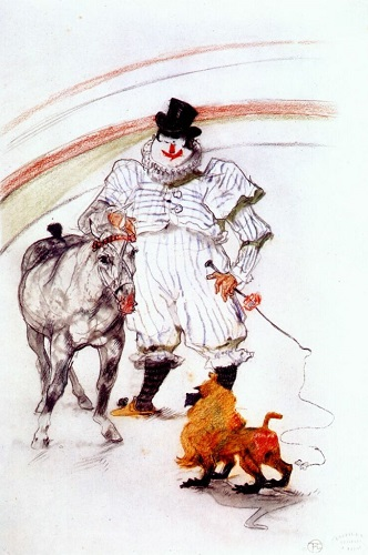 A circus drawing by Henri de Toulouse-Lautrec - headstuff.org