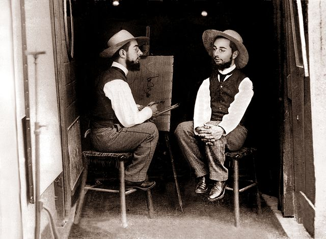 """Mr. Toulouse paints Mr. Lautrec"" by Maurice Guibert- headstuff.org"