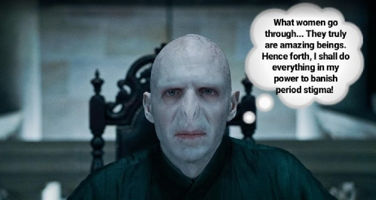 Voldemort Periods Menstruation Menstrual | HeadStuff.org