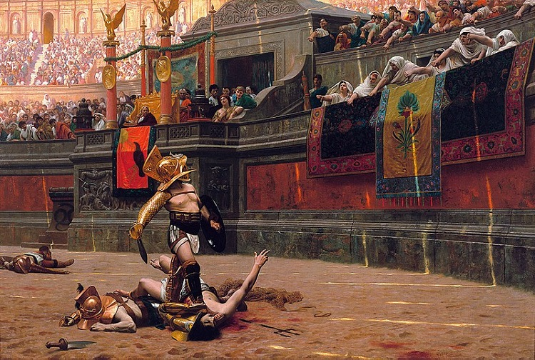 """Pollice Verso"" (""Turned Thumb"") by Jean-Leon Gerome - headstuff.org"