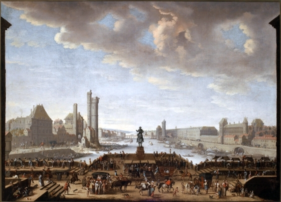 The Pont Neuf in Paris in the 1660s - headstuff.org