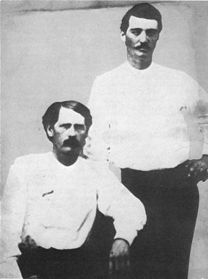 Wyatt Earp and Bat Masterson - headstuff.org