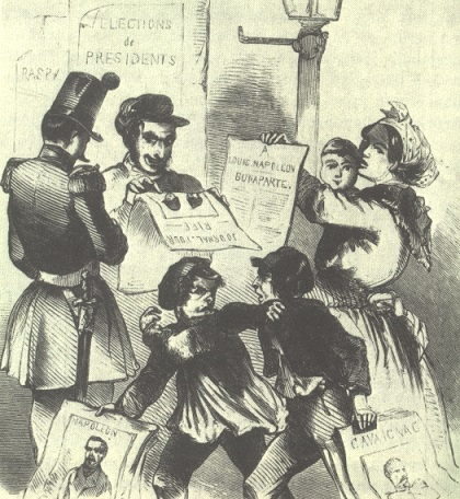 Cartoon about the 1848 election - headstuff.org