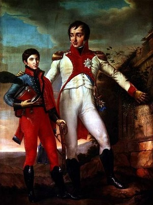 Louis Bonaparte with his second son, Napoleon Louis - headstuff.org