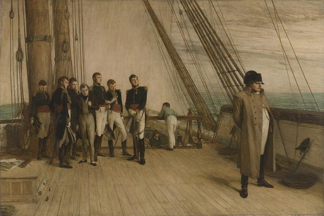 Napoleon being taken into exile - headstuff.org