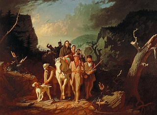 Daniel Boone leading settlers through the Cumberland Gap - headstuff.org