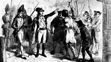 The Regulators confronting North Carolina governor William Tryon - headstuff.org