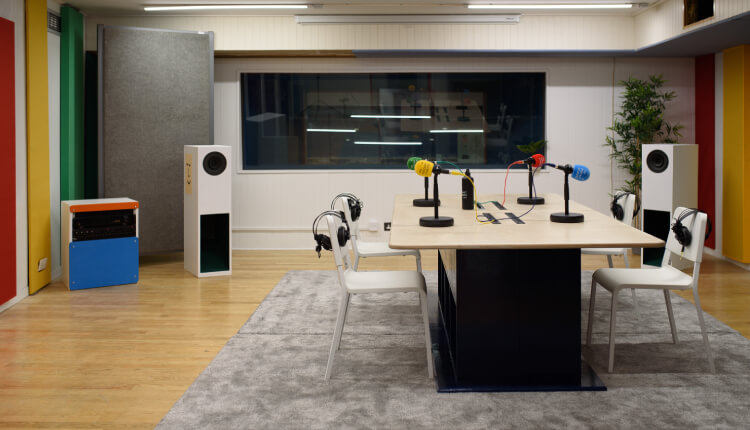 Interior of Podcast Recording Studio in Dublin CIty Centre - The Podcast Studios