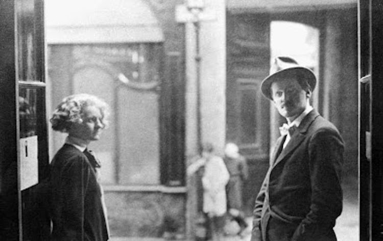 James Joyce and his publisher Sylvia Beach in Paris in the 1920's - Headstuff