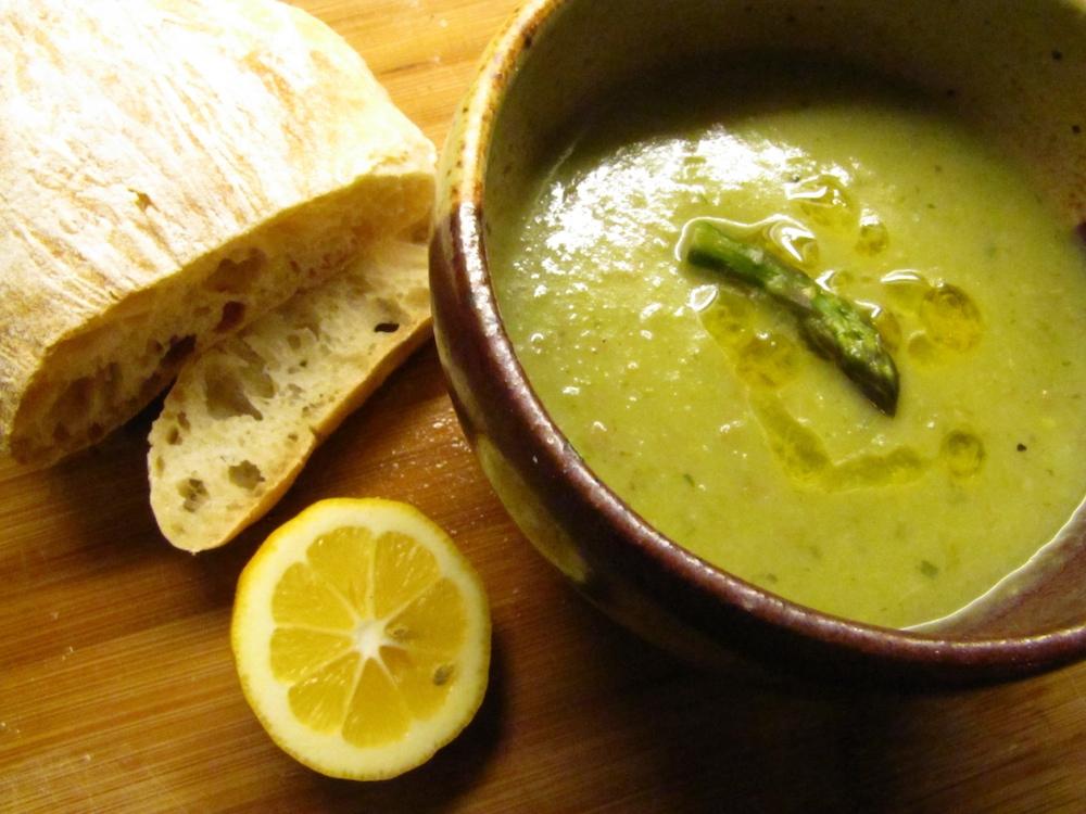 Asparagus Spinach Soup