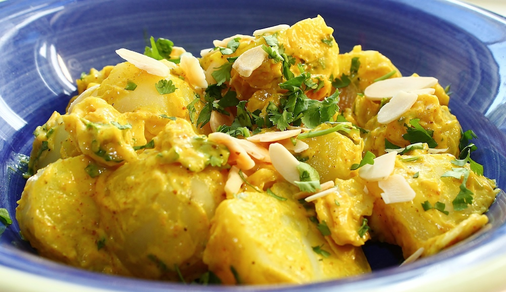 Vegan Cilantro Curry Potato Salad
