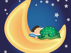 Sleep-child-vector-moon
