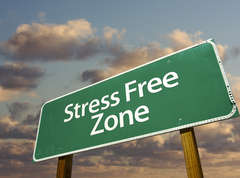 Sign-reads-stress-free-zone