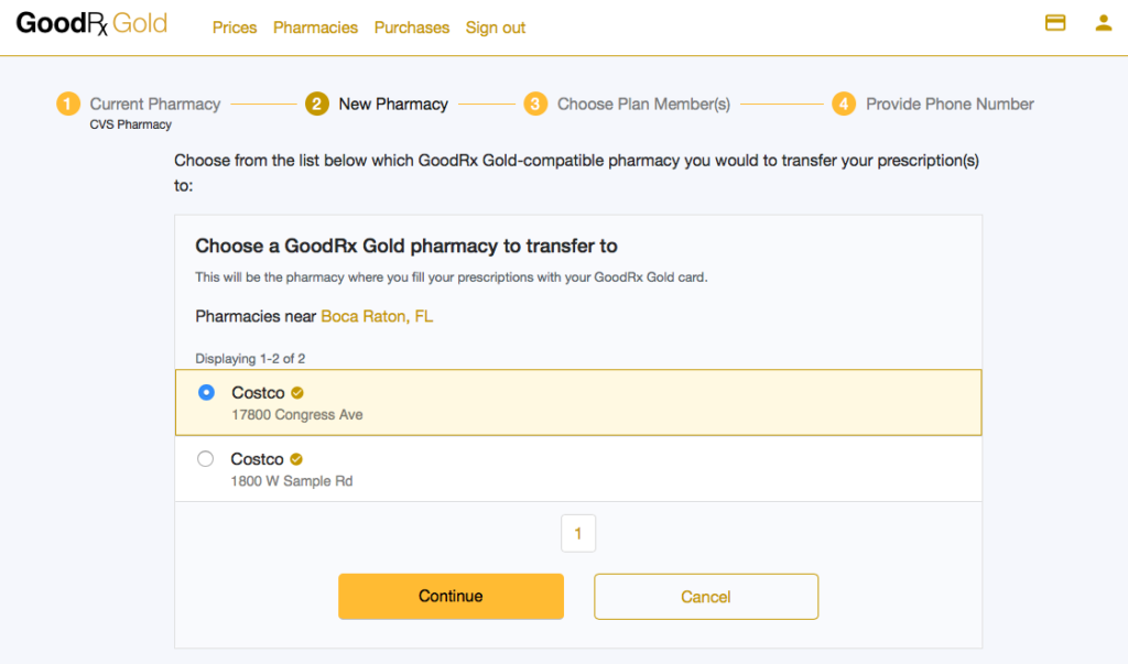 GoodRX GOLD Transfer Prescription