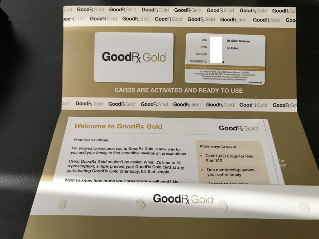 Inside The GoodRx Gold Card Envelope