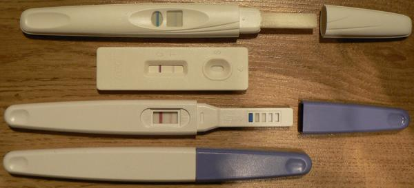 My home pregnancy test showed a faint.