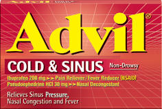 Advil cold and sinus: 164 Answers.