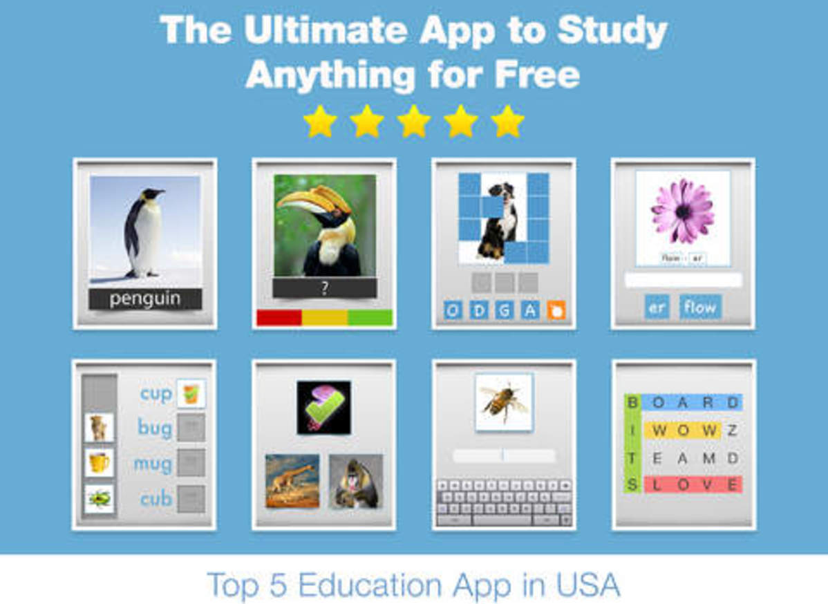 More Top Educational Apps >> Bitsboard Education Games And Flashcards For Learning Reading