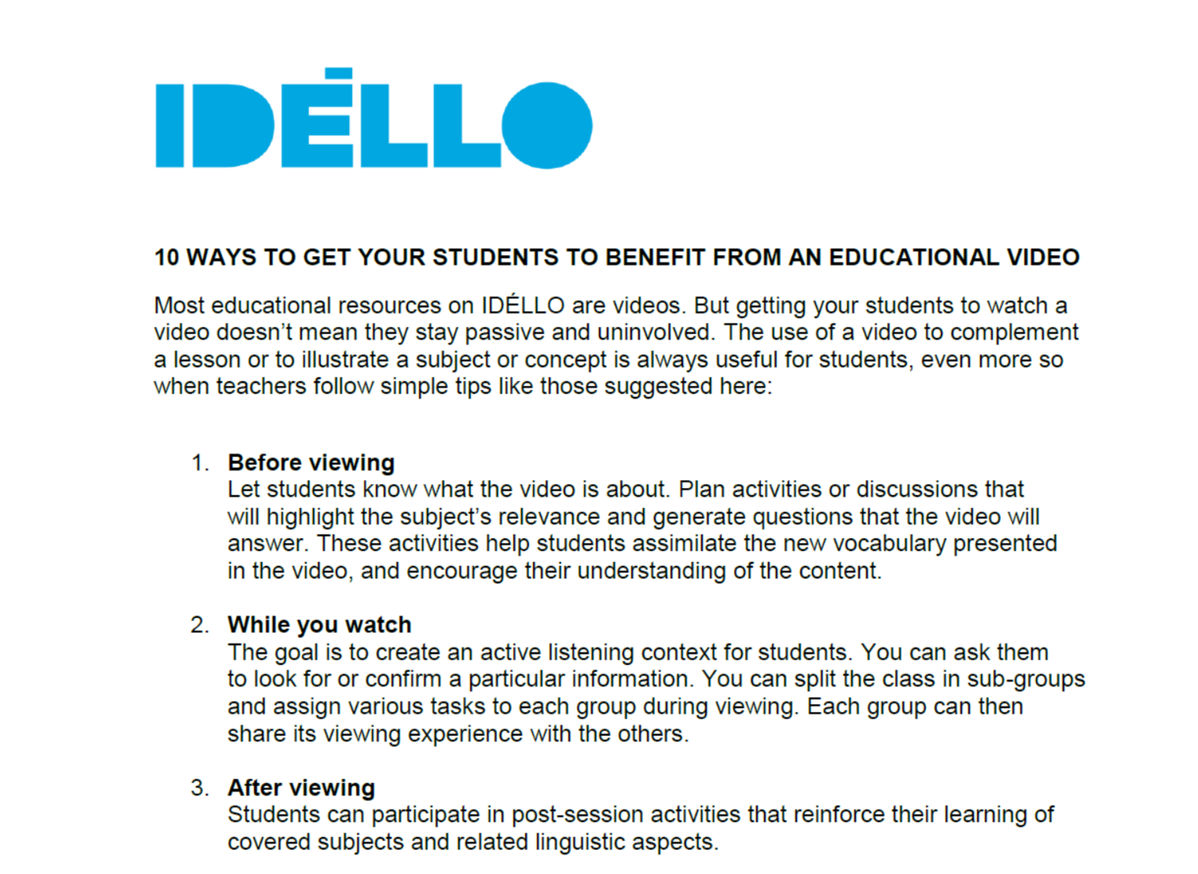 10 ways to get your students to benefit from an educational