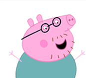 Personnage Peppa Pig.