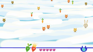 Launch the game The carrot race in a modal