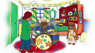 Vidéo - Caillou Plays the Drums