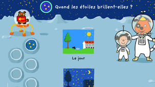Launch the game The stars in a modal