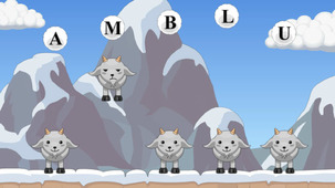 Launch the game Goat school in a modal