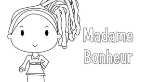 Coloriage - Madame Bonheur