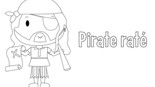 Coloriage - Pirate Raté