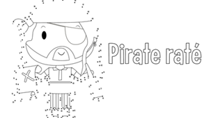 Coloriage - Pirate Raté P