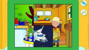 Launch the game Puzzle Caillou in a modal