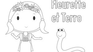 Coloriage - Fleurette