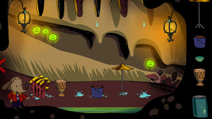 Launch the game Polo and the underground melodies in a modal