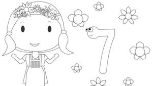 Coloriage - Fleurette 7