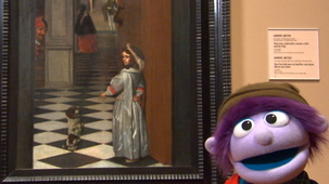 Vidéo - Charlie at the Museum: Gabriel Metsu - View into a Hall with a Jester