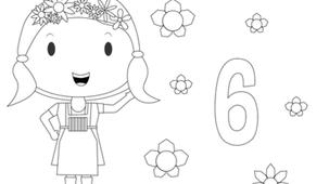 Coloriage - Fleurette 6