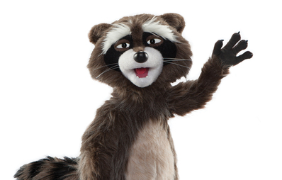 Personnage Gaston the raccoon.